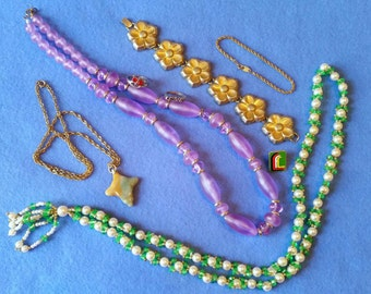 Assorted Jewelry Lot - vintage and modern - trifari bracelet