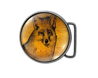 Belt buckle Fox Antiqued Silver Gifts for him Gifts for her