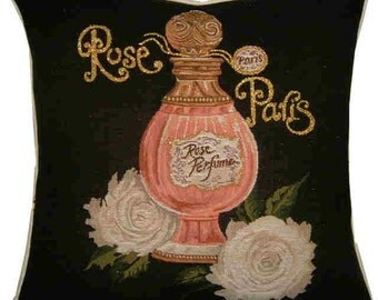 Rose Paris Rose Perfume Metallic Tapestry Cushion Cover Sham