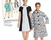 Retro Mid Century Dress Pattern Simplicity 1197 Dress & Coat Pattern Vintage 1960's Fashion