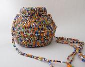 African Beadwork Maasai Tanzania basket purse African Bead Work