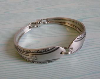 Silver Spoon Bracelet, Regent 1939 Pattern, Silverware Jewelry
