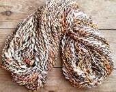 The Lady Of Shallott - 8 ounce and 200 yds - handspun art yarn merino bamboo alpaca silk novelty yarn