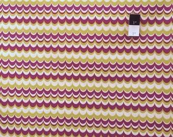 Joel Dewberry JD56 Heirloom Marbled Stripe Gold Cotton Fabric 1 Yard