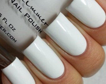 Eyes White Open Cream Nail Polish - 0.5 Oz Full Sized Bottle