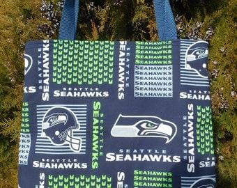 Seattle Seahawks Football Tote Bag Handmade Purse Limited New Print Go Hawks