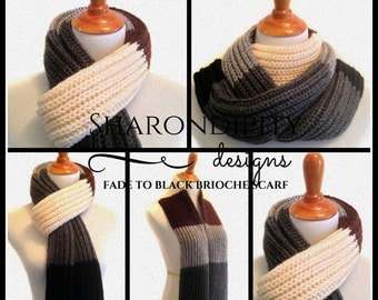 Fade to Black Brioche Scarf