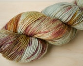 Hand Dyed Sock Yarn - Merino & Silk - Fingering Weight - Gleam - Adelaide