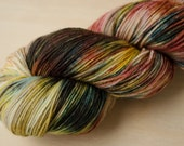 Hand Dyed Sock Yarn - Superwash Merino Wool & Nylon - Fingering Weight - Sock - Gloaming