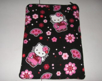 "Hello Kitty handmade zipper fabric 7"" mini ipad Galaxy Kindle Fire Nexus case sleeve cover pouch tablet"