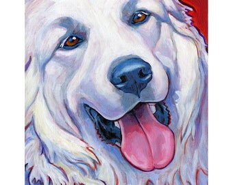 GREAT PYRENEES Dog Original Art Painting by Lynn Culp 11x14
