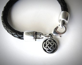 Outlander Leather Bracelet Celtic Knot celtic bracelet Irish knot Scottish St Patricks