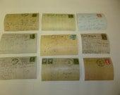 EPHEMERA VINTAGE POSTCARDS / Repro postcard backs / reproduction postcard writing / collage supplies / scrapbook papers / ephemera post card