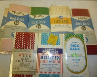 VINTAGE BABY RICRAC / ric rac / sewing trim / vintage rickrack / baby ric rac / vintage ricrac / sewing notions / vintage sewing supplies /