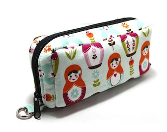 Essential Oil Case Holds 10 Bottles Essential Oil Bag Matryoshka On Pale Blue