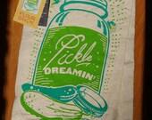 Pickle Dreamin - floursack towel