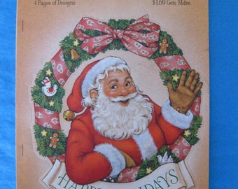 Vintage Ambassador/Hallmark Christmas Press Out Decorations, 1981, nos