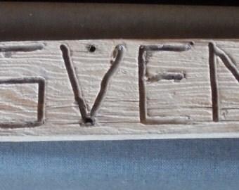 VINTAGE WOODEN SIGN, Grosvenor, fat huntsman, Utah Arch, trail, hiking, hand carved