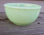 Vintage Jadite Fire King Bowl