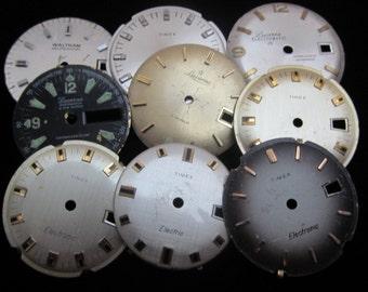 Vintage Antique Watch Dials Steampunk  Faces Parts A 10