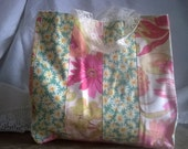 Reusable Gift Bag, Wrapping 10 inch in pre-loved fabrics