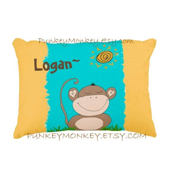 oreiller de singe oreiller personnalis pour tout petits. Black Bedroom Furniture Sets. Home Design Ideas