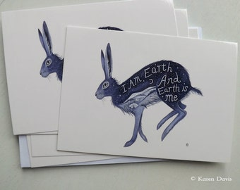 I am Earth and Earth is me.  Six  Postcards with Envelopes