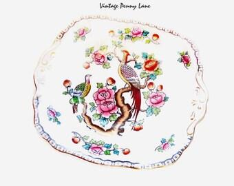 Allertons Porcelain Plate / Vintage Asiatic Birds