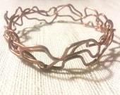 Copper Vine Bangle Bracelet Handmade from Reclaimed Metal, EcoFriendly Jewelry