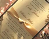 Layered invitation card set with ribbon (Sample)