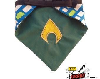 Aquaman-inspired reversible pet bandana