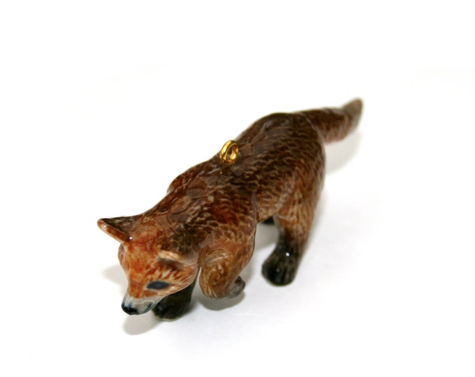 Porcelain Fox Necklace, Red Fox Necklace, Woodland Jewelry,