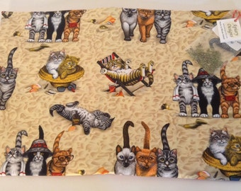 Catnip Activity Mat - Beach Cats - Refillable and Washable