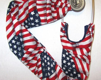 Stethoscope Cover American Flag Wrap