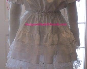 DDNJ Renaissance Short Cotton Lace Multi Tier Petti Crinoline Lolita Wedding Costume LARP Anime Steampunk Plus Custom Made ANY Size Kawaii