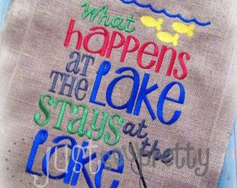 At The Lake Lakehouse Embroidery Design