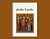 Freaks & Geeks poster retro print in various sizes