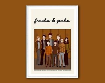 Freaks & Geeks poster retro print in various sizes