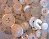 White Buttons By The Cup, Scrapbooking Buttons, Craft Buttons, Cardmaking Buttons, Sewing Buttons, Buttons In Solid Colors