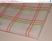 Final Clearance 75% OFF Tootie Frootie - 1 yard upcycled linens fabric