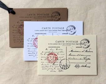 LOT CLEARANCE 28 Carte Postale French Postcard Gift Tags