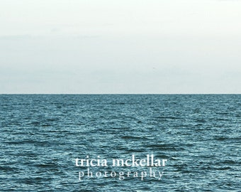 Large Wall Art, Print or Canvas, 30x40 or 30x45 or 40x60 Fine Art Photography, Minimalist Ocean, Uninterrupted