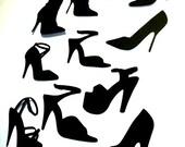 Shoe Silhouette Die Cuts Set of 11