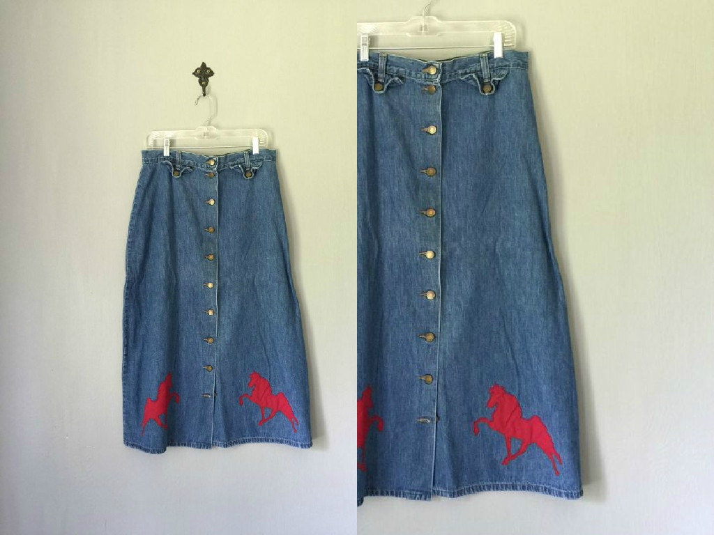 vintage equestrian skirt 1970s womens clothing by