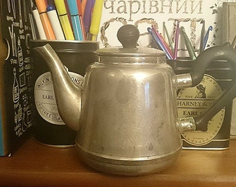classic teapot with the lid, german silver