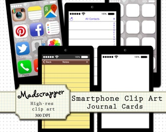 Smartphone Digital Clip art and Journal Cards