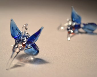 Blue and other colored Hummingbird Earrings