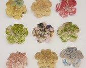 Calvi - decorative push pins for cork board - medium paper flower  - made to order