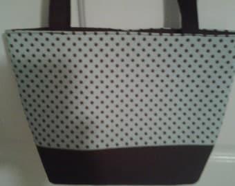 Turquoise Brown Dot Purse Bag