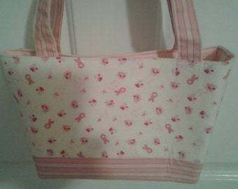 Pink Cream Breast Cancer Awareness Bag Purse